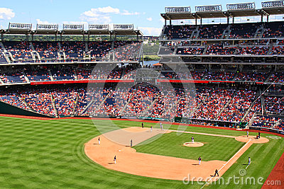 Baseball - Nationals Park from Left Field Editorial Photography
