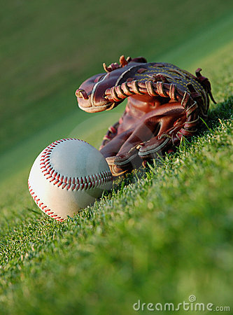 Free Baseball On The Field Stock Images - 4186504