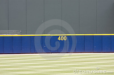 Baseball outfield wall