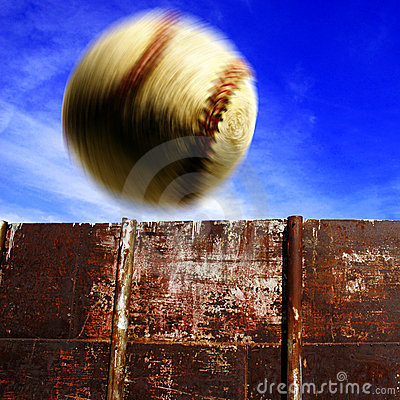 Free Baseball Over The Fence For Homerun Royalty Free Stock Photos - 21989568
