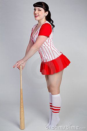 Baseball Pinup Girl