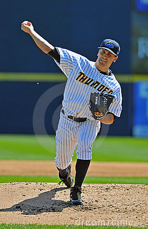 Baseball pitcher delivery Editorial Stock Photo