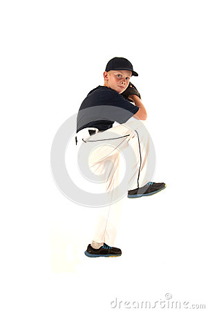Free Baseball Pitcher In A Pitching Motion Throwing The Ball Stock Photos - 39676623