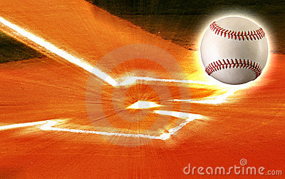 Baseball plate ball zoom