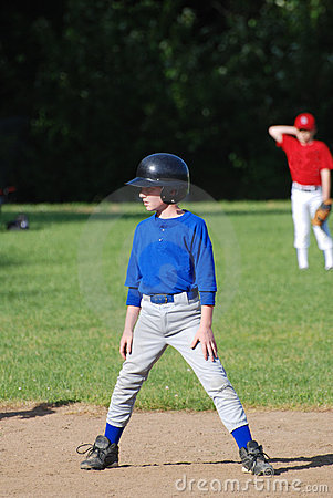 Baseball player on base,