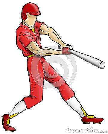 Baseball player batting