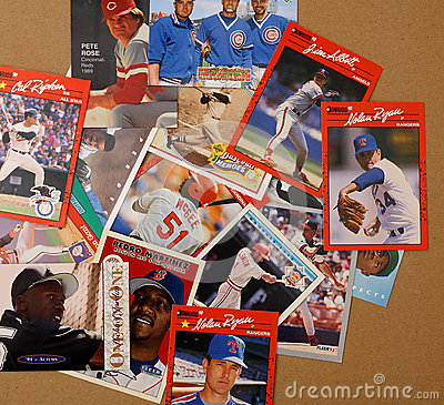 Baseball Player Collector Cards Editorial Stock Photo