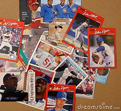Baseball Player Collector Cards Editorial Stock Photo