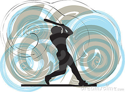 Baseball player. illustration.