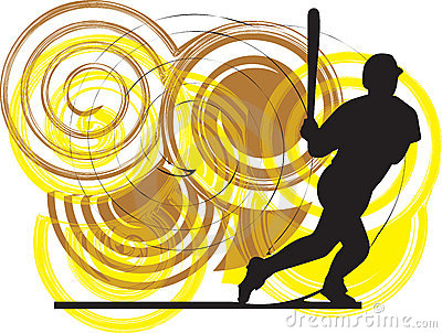 Baseball player. illustration.