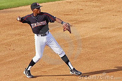 Baseball Player Ready to Throw