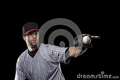Baseball Player on a red uniform.