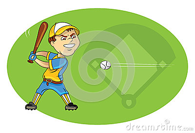 Baseball player swinging