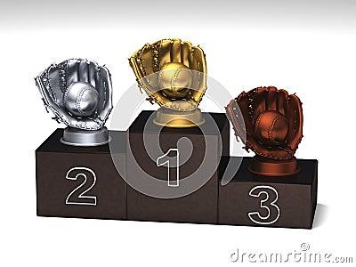 Baseball podium