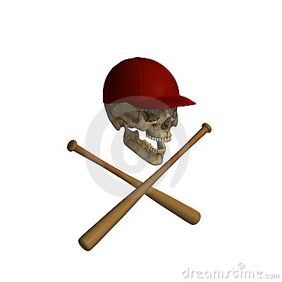 Baseball Skull and Cross Bats 3
