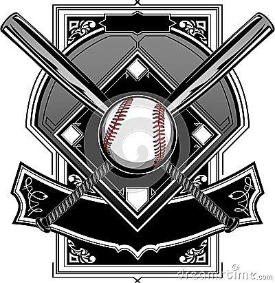 Baseball or Softball Field with Bats