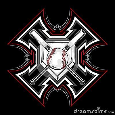 Baseball / Softball Tribal Vector Image