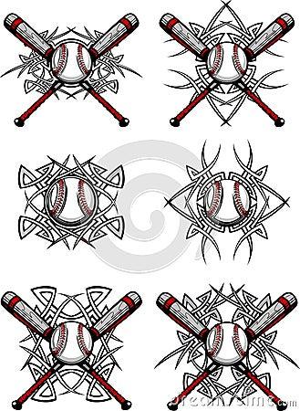 Baseball / Softball Tribal Vector Images