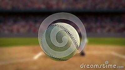 Baseball som slås i toppen ultrarapid