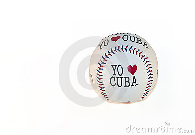 Baseball Souvenir on White Background.