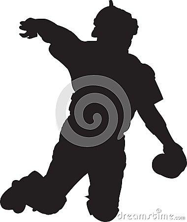 Baseball-Spieler, Fänger 01