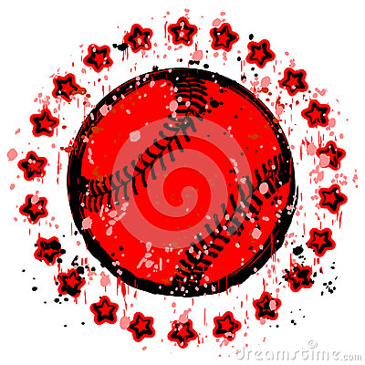 Baseball stamp Vector Illustration