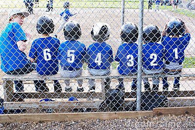 Baseball team in numerical order..