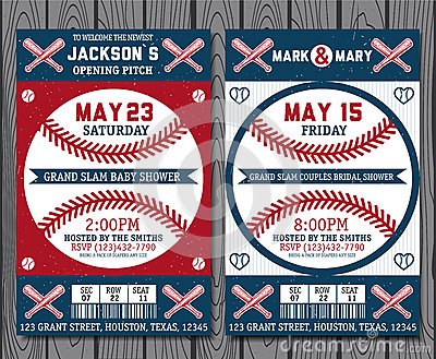 Baseball tickets Vector Illustration