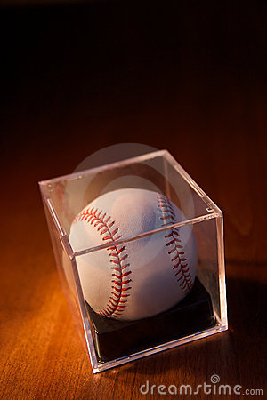 Baseball on Wood Background