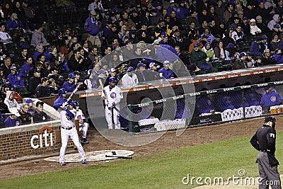 Baseball - Wrigley Field Cub in On Deck Circle Editorial Photography