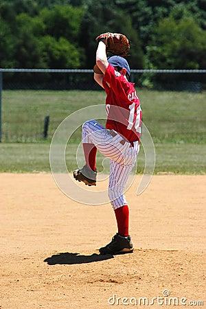 Basebol da liga júnior Fotografia Editorial
