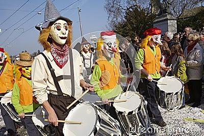 Basel (Switzerland) - Carnival 2014 Editorial Stock Photo