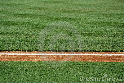 Baseline on a baseball field