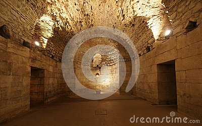 Basement of the Diocletian s Palace in Split