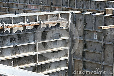 Basement wall forms stock photo image 42457313 for Poured concrete basement walls
