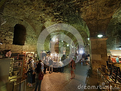 Basements of the Diocletian palace Editorial Image