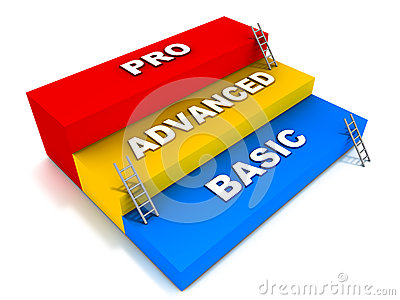 Basic advanced and pro levels