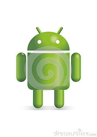 Basic Android robot illustration Editorial Stock Photo
