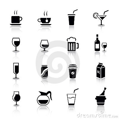 Free Basic - Drink Icons Stock Photo - 20336640