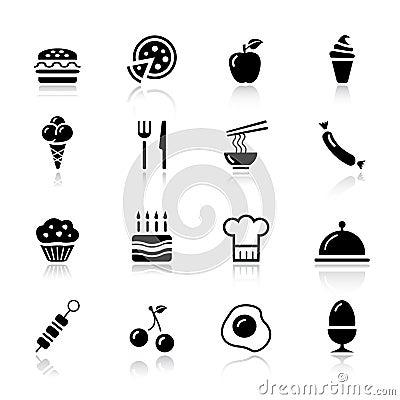 Free Basic - Food Icons Stock Photography - 20336652