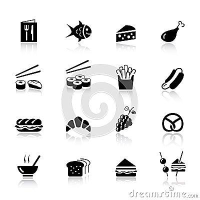 Free Basic - Food Icons Royalty Free Stock Photo - 20336655