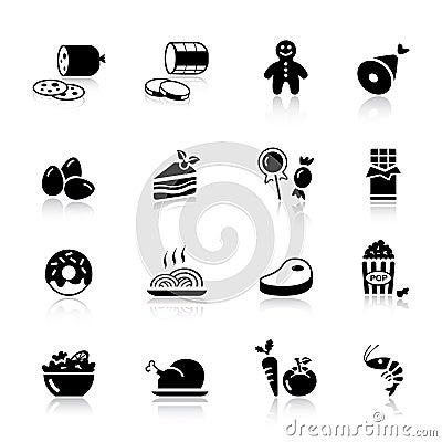 Free Basic - Food Icons Royalty Free Stock Image - 20336656