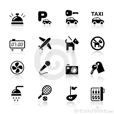 Free Basic - Hotel Icons Stock Photography - 20336662