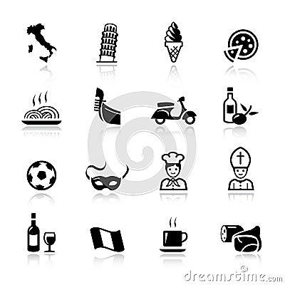 Free Basic - Italian Icons Stock Photos - 22267773