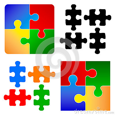 Free Basic Puzzle Pieces Stock Photography - 46452902