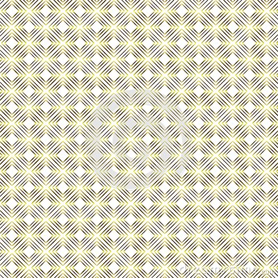Seamless Golden Square Shapes Geometric Pattern in White Background Cartoon Illustration