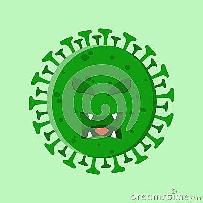 Illustration of a corona virus Vector Illustration