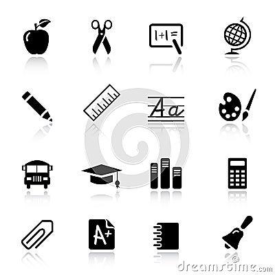 Free Basic - School Icons Royalty Free Stock Photography - 20336667
