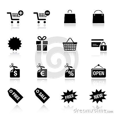 Free Basic - Shopping Icons Stock Images - 20336664