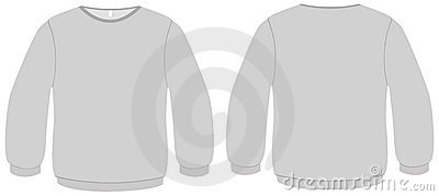 Basic Sweater template vector illustration